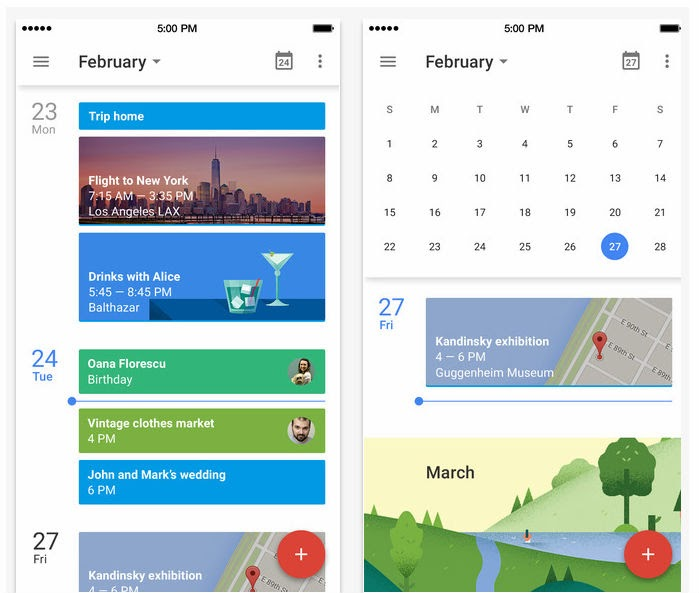 why doesn t google calendar app automatically add images doodles to