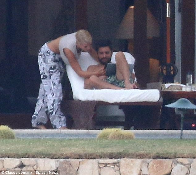 Staying close: On Friday, Scott Disick and Sofia Richie were spotted enjoying some sunshine in Los Cabos, Mexico