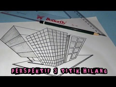 Konsep Cara Menggambar PERSPEKTIF TIGA TITIK HILANG GAMBAR ...