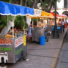food stalls - Merida zocalo