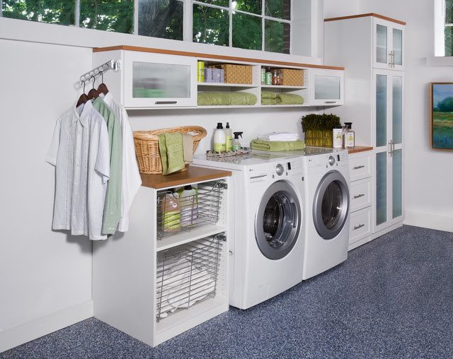 The Ultimate Laundry Room - contemporary - laundry room - new york