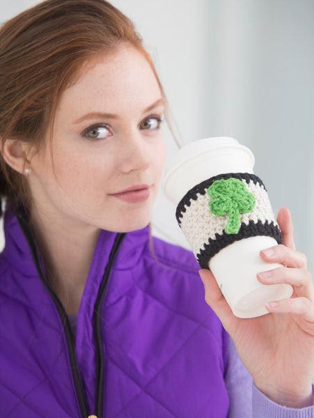 Shamrock Cup Cozy (Crochet) Free Pattern