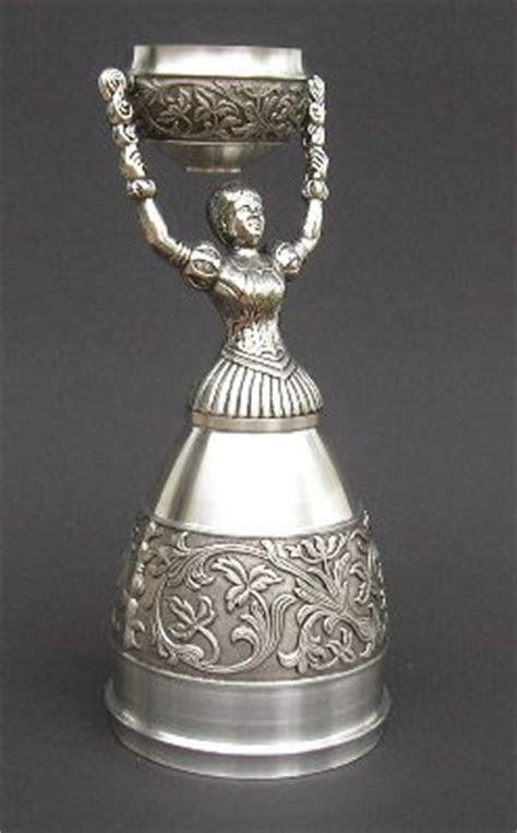German Pewter Bridal Cup   Nuremberg Wedding Cup