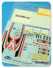 Calcas 1/24 Shunko Models - Mitsubishi Lancer Evo V Ralli Art Nº 1, 2 - Makinen + Mannisenmaki, Burns + Reid - Rally de Cataluña 1998 - para usar con kit de Tamiya