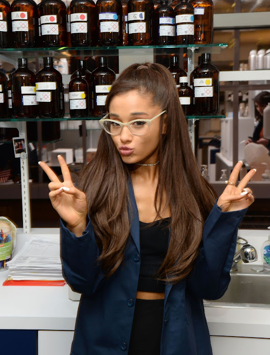 Image : ARIANA GRANDE at Firmenich Fragrance House in New York ...