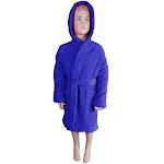 Puffy Cotton Kids Unisex Hoodie Bathrobe - Bathing Accessories Navy Blue / S
