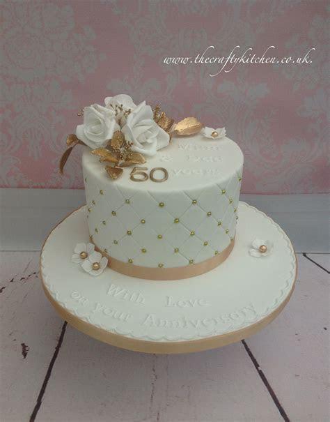 Golden Wedding Anniversary Cake   50th Anniversary Cakes