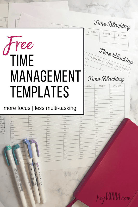 Time Blocking Calendar - Free Updated Worksheets - Hey Donna