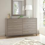 Strick & Bolton Elizabeth Transitional Grain-textured Grey Dresser
