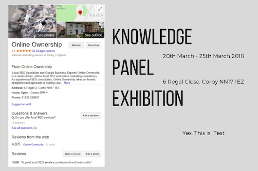 Knowledge Panel Exhibition - Online Ownership
