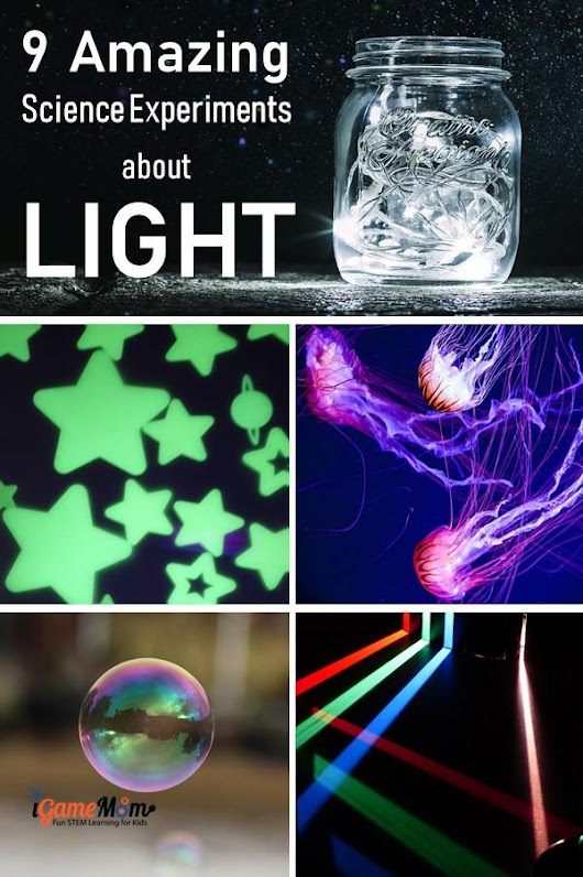 9 Science Experiments about Light for Kids