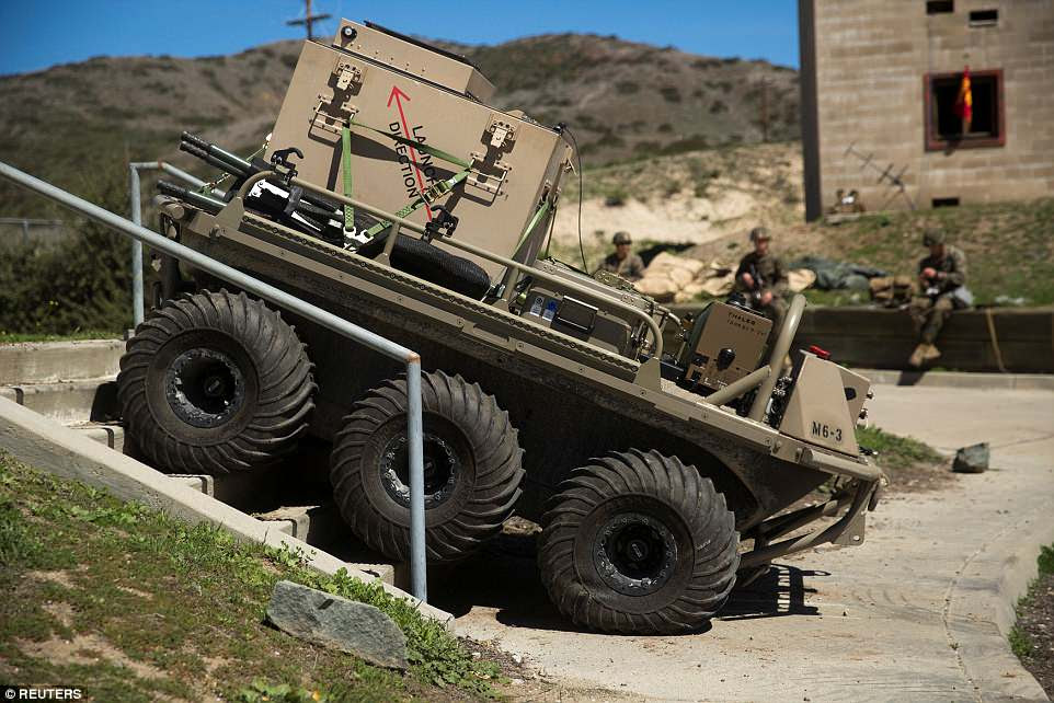 A Multi-Utility Tactical Transport (MUTT) is tested during the Urban Advanced Naval Technologies Exercise 18 (ANTX18)
