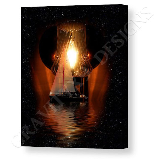 Sailing Under The Stars Canvas Print / Canvas Art by Gravityx9 Designs | Home Decor - Wall Decor