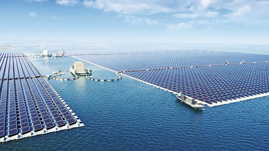 the world's largest floating solar plant starts producing power in huainan, china