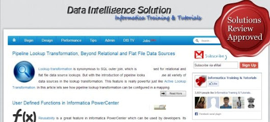 "Home Grown ""Informatica Training and Tutorials"" is a Site Worth Knowing About"