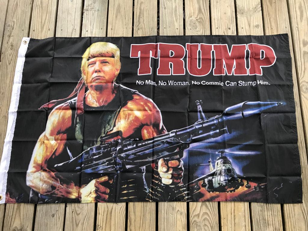 Donald Trump Rambo Flag Rebel Nation