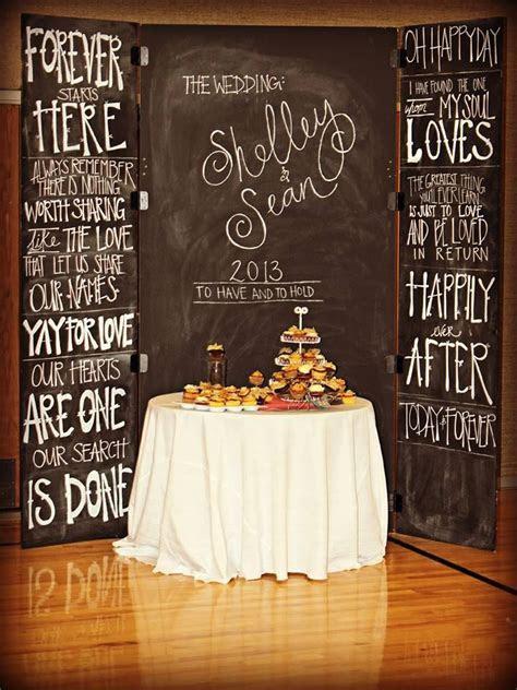 25  best ideas about Wedding chalkboard backdrop on