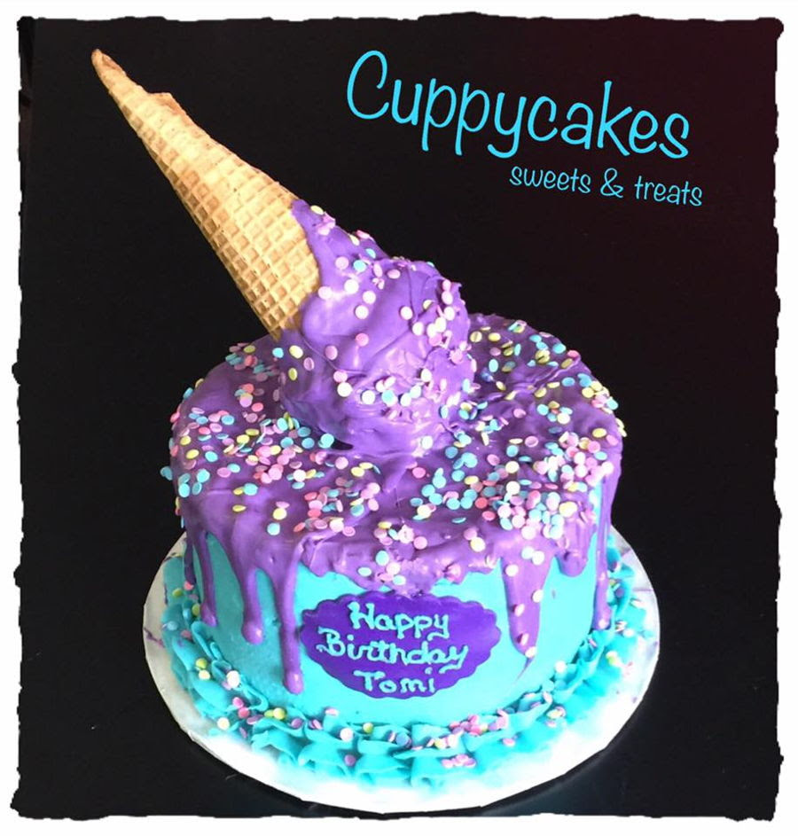Image result for images of purple cake and ice cream