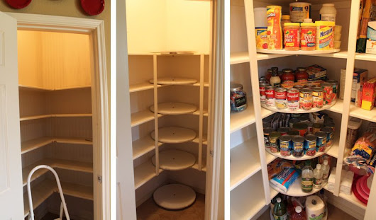 DIY Lazy Susan Pantry Design - iCreatived