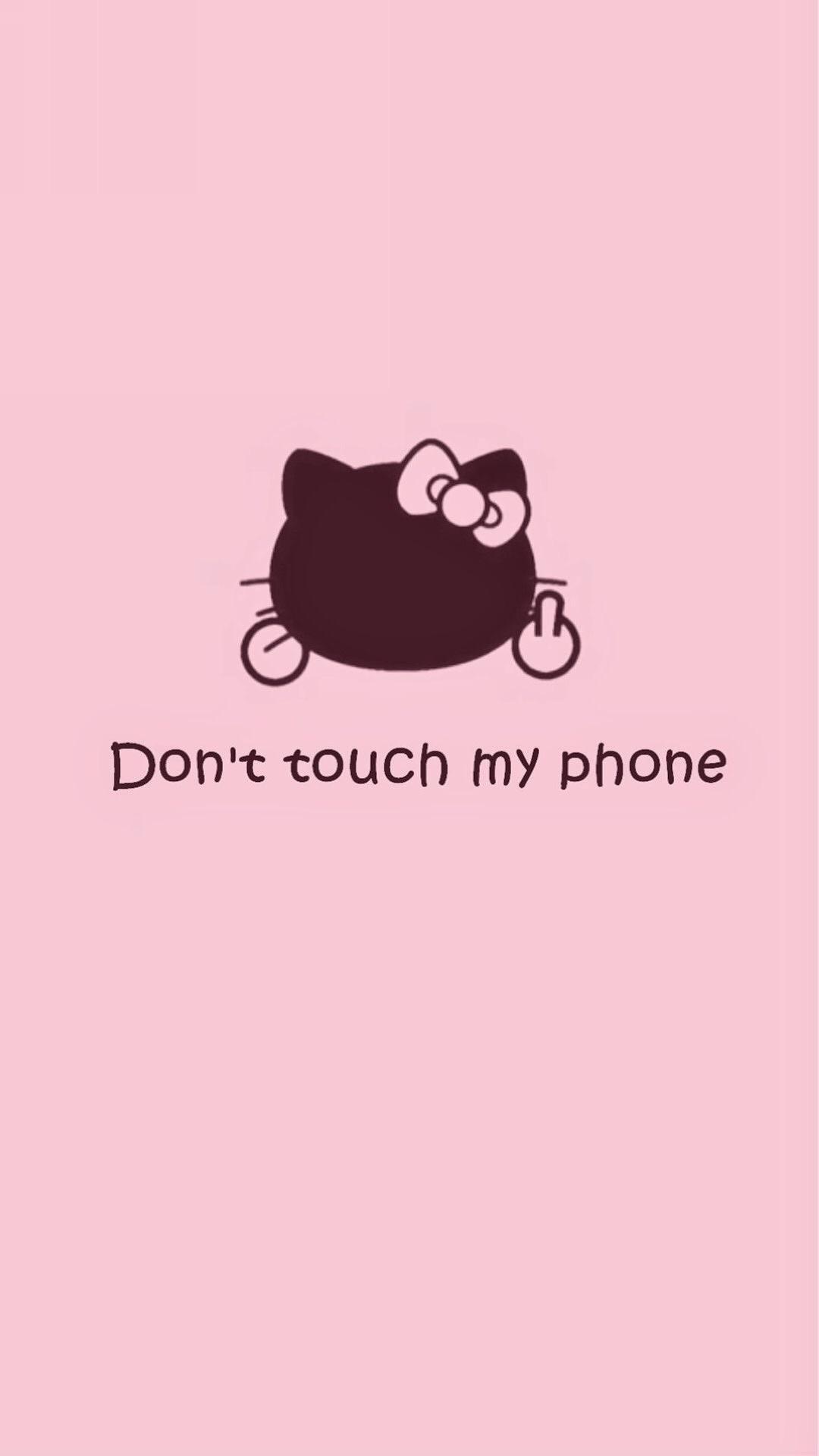キティちゃん Don T Touch My Phone めちゃ人気 Iphone壁紙dj