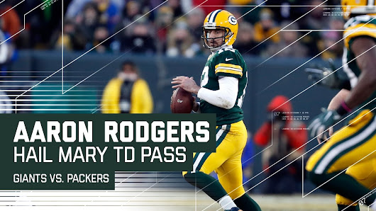 Aaron Rodgers Hail Mary Before Half! | Giants vs. Packers | NFL Wild Card Highlights - YouTube