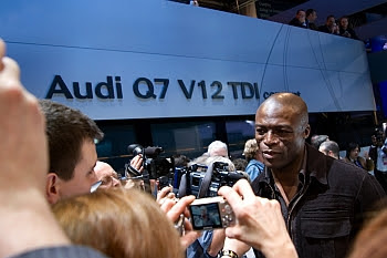 Seal als Publikumsmagnet bei Audi auf der Detroit Autoshow 2007 © Cornelia Schaible