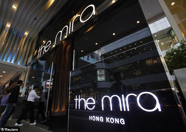Now what? Mr Snowden's whereabouts are now unclear after he checked out of the Mira Hotel, pictured, on Monday