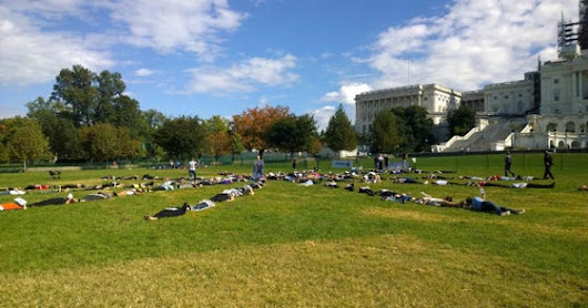 Notes From The 'Die-In,' A Demonstration For Metastatic Breast Cancer