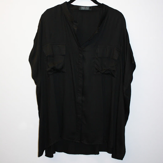 Black Audrey Oversized Button-Down Shirt