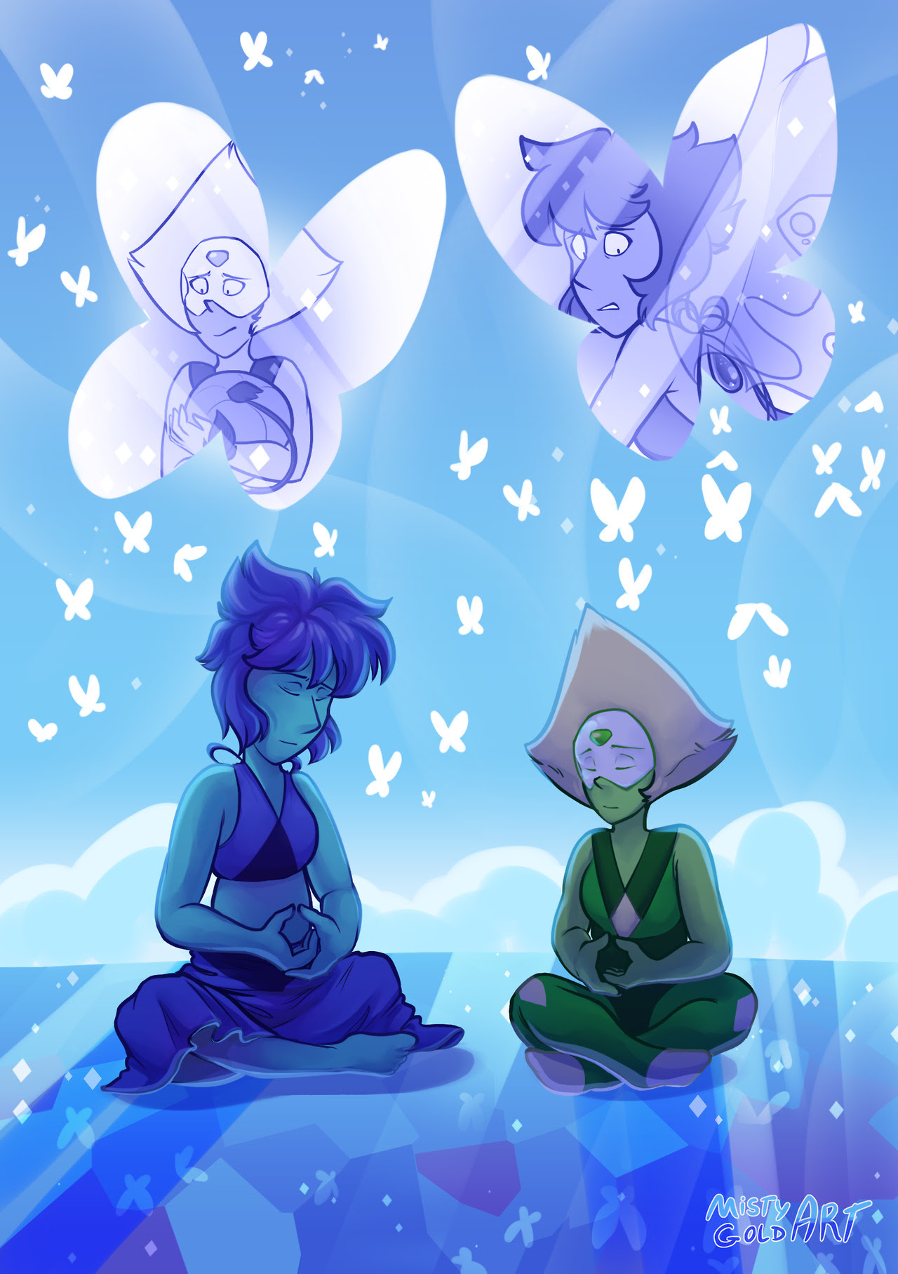Gift for @annadesu for the lapidot discord secret santa!! I hope you like it Anna, I tried to do something opal-related because I know you really like her, but I liked this idea better and flowed with...