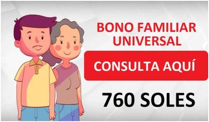 CONOCE EL ENLACE DE LOS  BENEFICIADOS CON EL SEGUNDO BONO FAMILIAR UNIVERSAL
