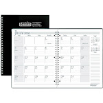 House Of Doolittle Monthly Planner 2PPM 14Mth July-Aug Black 26302