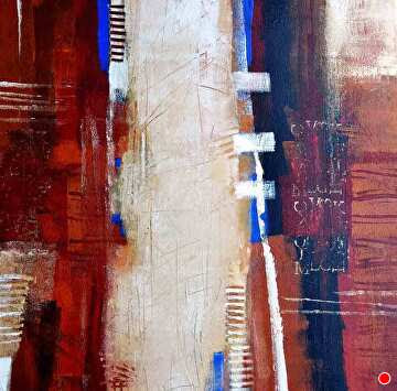 """Stay in Your Lane by Filomena Booth Acrylic ~ 24"""" x 24"""""""