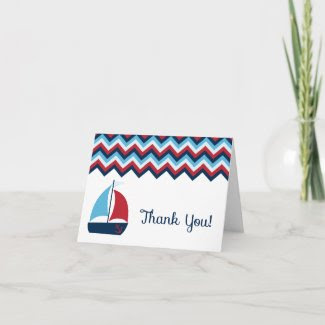 Nautical Thank You Card card