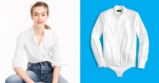 This White Button-Down Never Comes Untucked