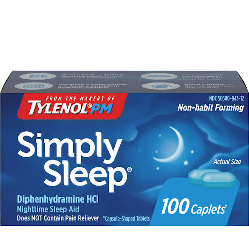 Simply Sleep Nighttime Sleep Aid Caplets, 100 Count