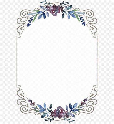 Wedding invitation Menu Template   Vintage floral border