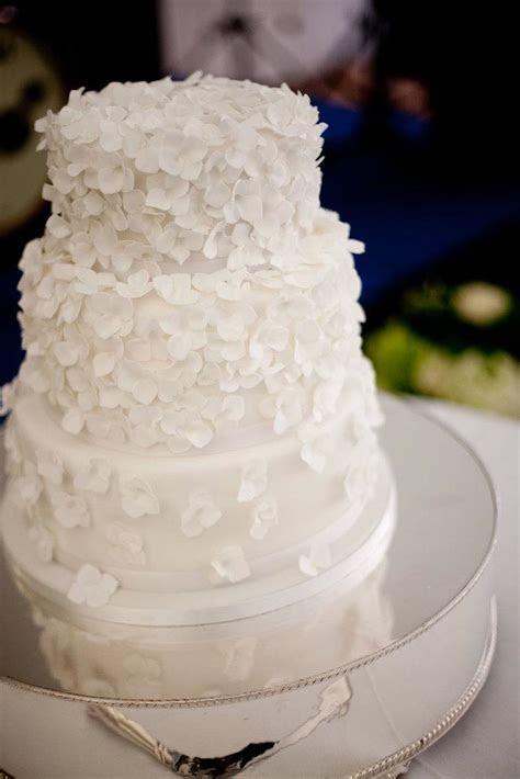 wedding, cake, wedding cake, white, icing, hydrangea