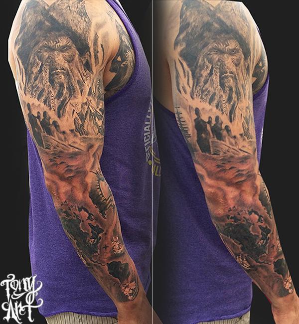 Tony Art Tattoos Tattoos Realistic Pirates Of The Caribbean