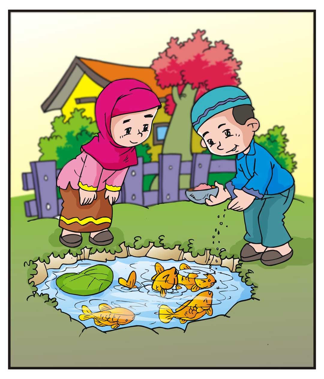 Sketsa Gambar Ilustrasi Buku Cerita