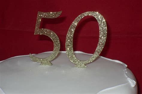 glitter number cake toppers colours red black gold