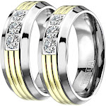 His and Hers Titanium Wedding Rings 10 / 13