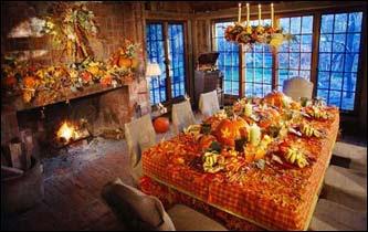 Thanksgiving table decor - Boston.