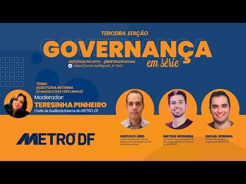 O Metrô-DF apresenta quarta edição do Governança em Série