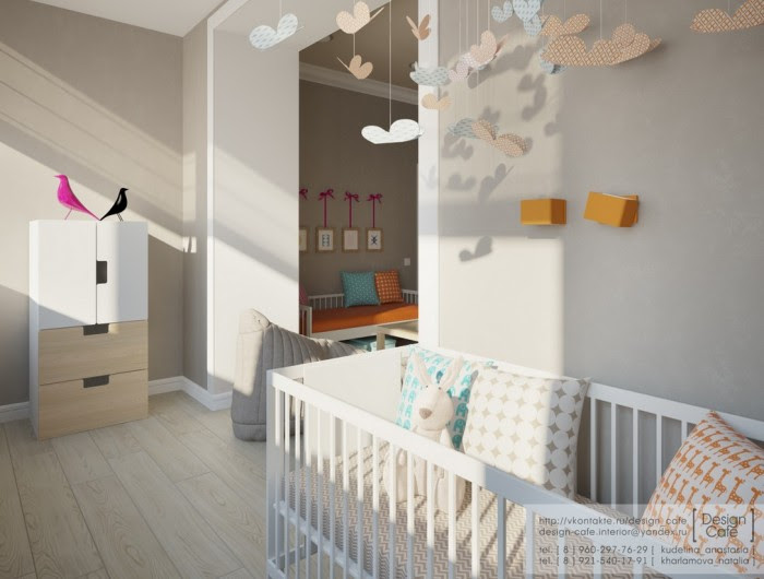 young family apartment bedroom childs nursery