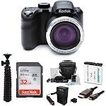 KODAK PIXPRO AZ421 Astro Zoom 16MP Digital Camera (Black) with 32 GB SD Card Bundle