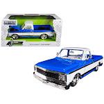 Jada Toys 99046 1 isto 24 1972 Chevrolet Cheyenne Pickup Truck Diecast Model Car - Blue & White