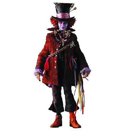 Mad hatter Johnny Depp Doll. Lewis Carroll created all legendary characters