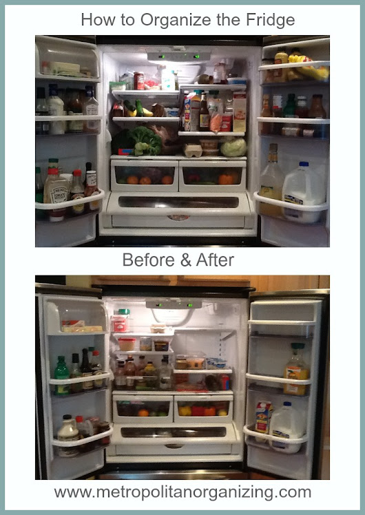How to organize the Fridge | Metropolitan Organizing ® | Raleigh Cary NC