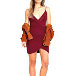 Intimately By Free People | Dylan Surplice Bodycon Dress | Red
